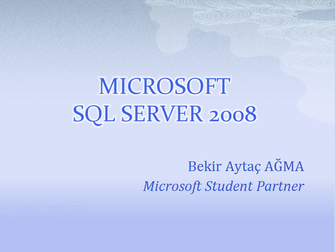 Microsoft Sql Server Webineri (Video)